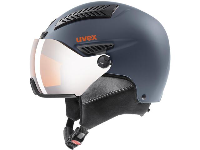 UVEX hlmt 600 Visor Helm, dark slate orange mat